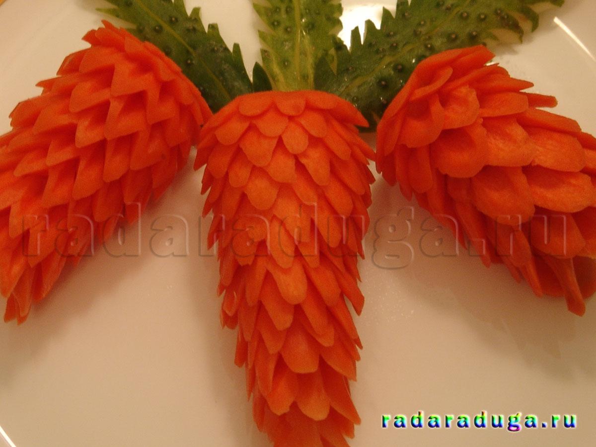 Пошаговые фото карвинг морковь